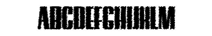 Hostil Trash Font UPPERCASE