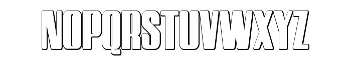 HostilBeveled Font UPPERCASE