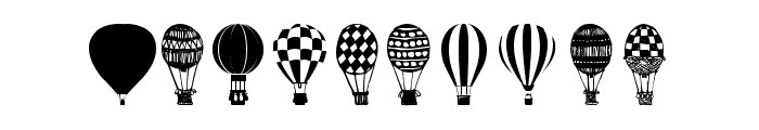 Hot Air Balloons Font OTHER CHARS