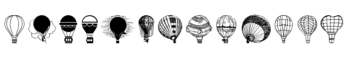 Hot Air Balloons Font UPPERCASE