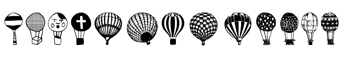 Hot Air Balloons Font LOWERCASE