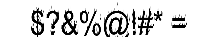 Hot, Hot, Hot Burning Font OTHER CHARS