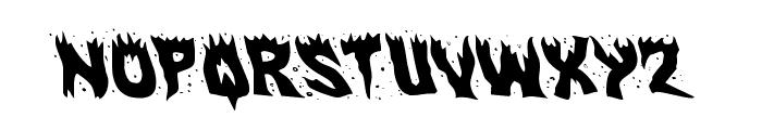 Hot Kiss Leftalic Font LOWERCASE