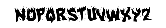 Hot Kiss Rotated Font LOWERCASE