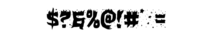 Hot Kiss Staggered Font OTHER CHARS