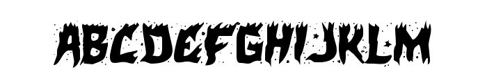 Hot Kiss Staggered Font LOWERCASE