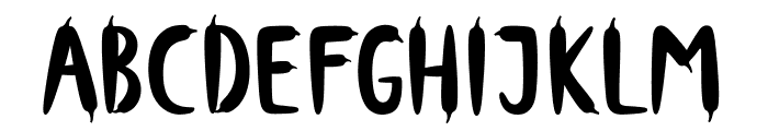 Hot PepperOne Font UPPERCASE