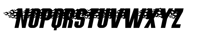 Hot Rod Gang BV Font UPPERCASE