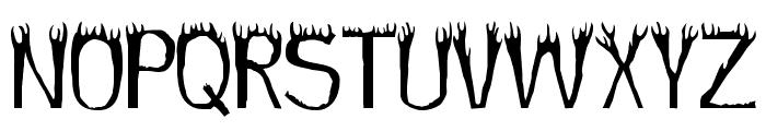 Hothead Font UPPERCASE