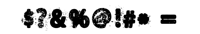 House of Horror Font OTHER CHARS