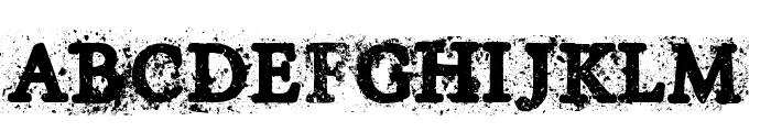 House of Horror Font UPPERCASE