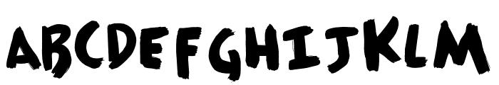 HousePaint Font UPPERCASE