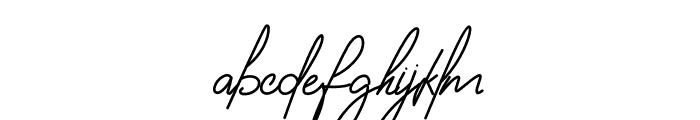 Housttely Signature Font LOWERCASE