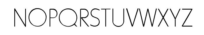 HowardThin Regular Font UPPERCASE