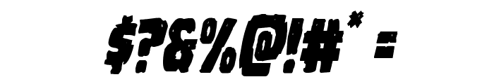 Howlin' Mad Condensed Italic Font OTHER CHARS