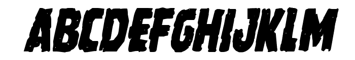 Howlin' Mad Condensed Italic Font UPPERCASE
