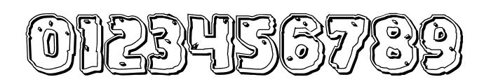 Howlin' Mad Engraved Font OTHER CHARS