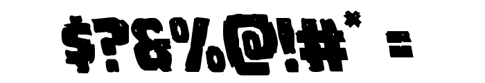 Howlin' Mad Leftalic Font OTHER CHARS