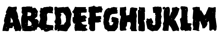 Howlin' Mad Mangled Font UPPERCASE