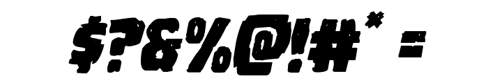 Howlin' Mad Staggered Italic Font OTHER CHARS