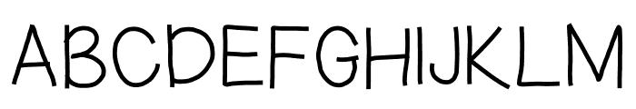 hoodie Font UPPERCASE