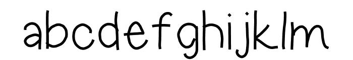 hoodie Font LOWERCASE