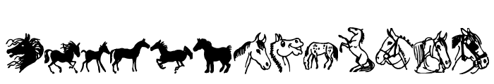horsedings Font UPPERCASE