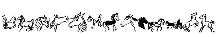 horsedings Font LOWERCASE