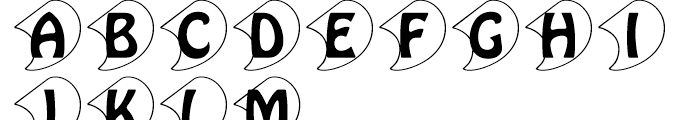 Hobo Initials Standard D Font UPPERCASE