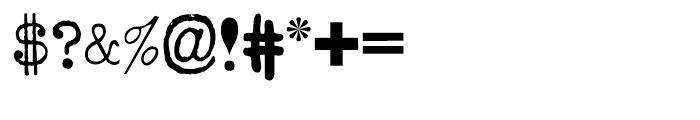 Hodgepodge Regular Font OTHER CHARS