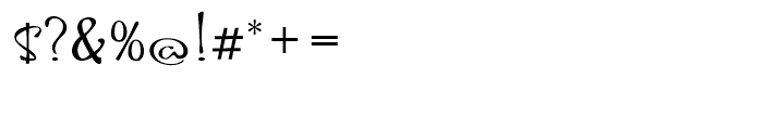 Hoofer Brush Rose Font OTHER CHARS