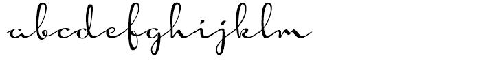 Hoofer Brush Rose Font LOWERCASE