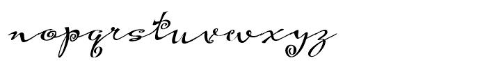 Hoofer Brush Spiral Oblique Font LOWERCASE
