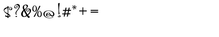 Hoofer Brush Spiral Font OTHER CHARS