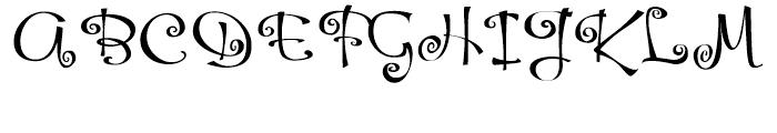 Hoofer Brush Spiral Font UPPERCASE
