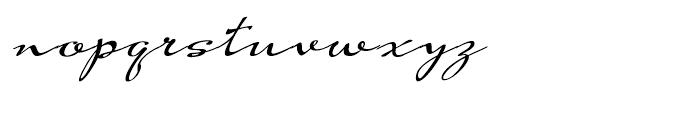 Hoofer Brush Swing Font LOWERCASE