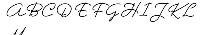 Hoofer Line Medium Oblique Font UPPERCASE