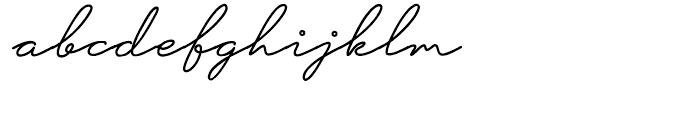 Hoofer Line Medium Oblique Font LOWERCASE