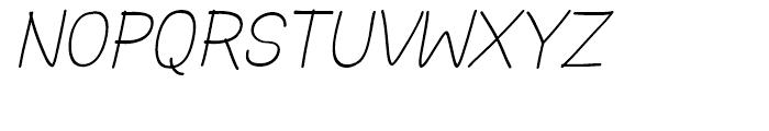 Hoofer Sans Medium SC Oblique Font UPPERCASE