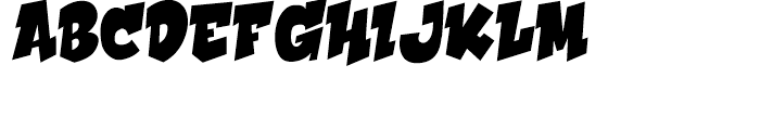 Hooky Solid Font UPPERCASE