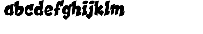 Hooky Solid Font LOWERCASE