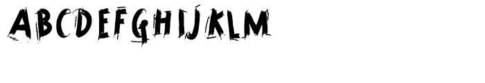 Horrorama Regular Font LOWERCASE