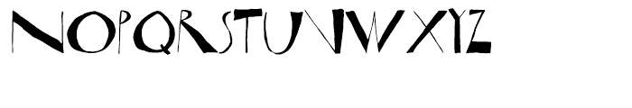 Horst Regular Font LOWERCASE