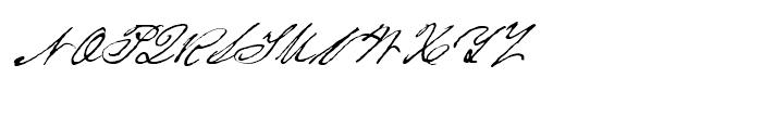 Houston Pen Regular Font UPPERCASE