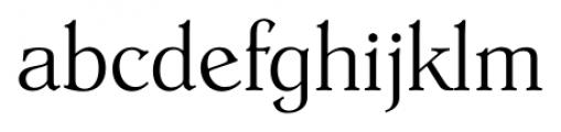 Hoboken Serial Xlight Font LOWERCASE