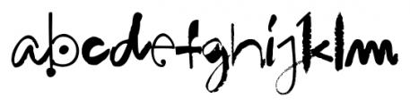 Hodgepodge Handlettered Regular Font LOWERCASE