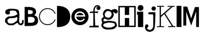 Hodgepodge Regular Font UPPERCASE