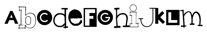 Hodgepodge Regular Font LOWERCASE
