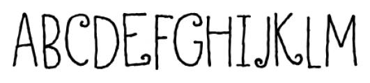 Honey Dew Regular Font LOWERCASE