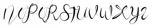 Honey Moon Midnight Calligraphy Font UPPERCASE